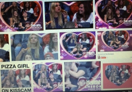 "If you haven't seen Pizza Girl in action, just Google ""Pizza Girl on Kiss Cam"" and get in on the fun."